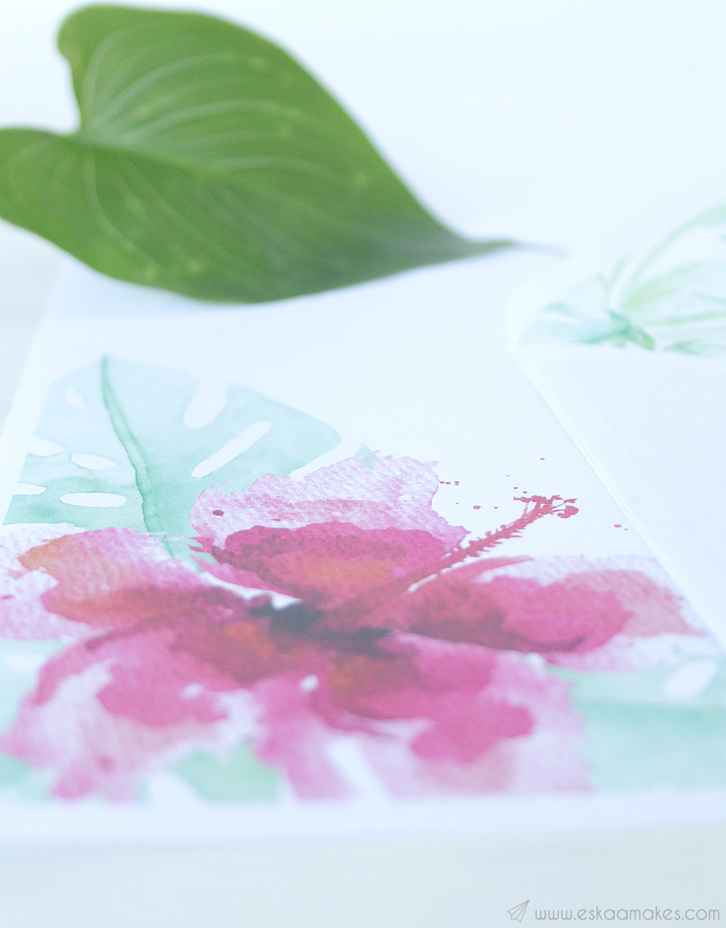 printables tropical hibiscus snailmail 3