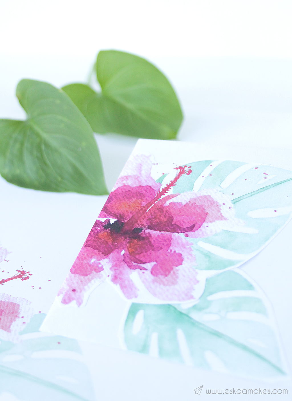 printables tropical hibiscus snailmail 5