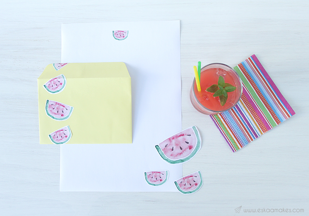 printables watermelon snailmail 3