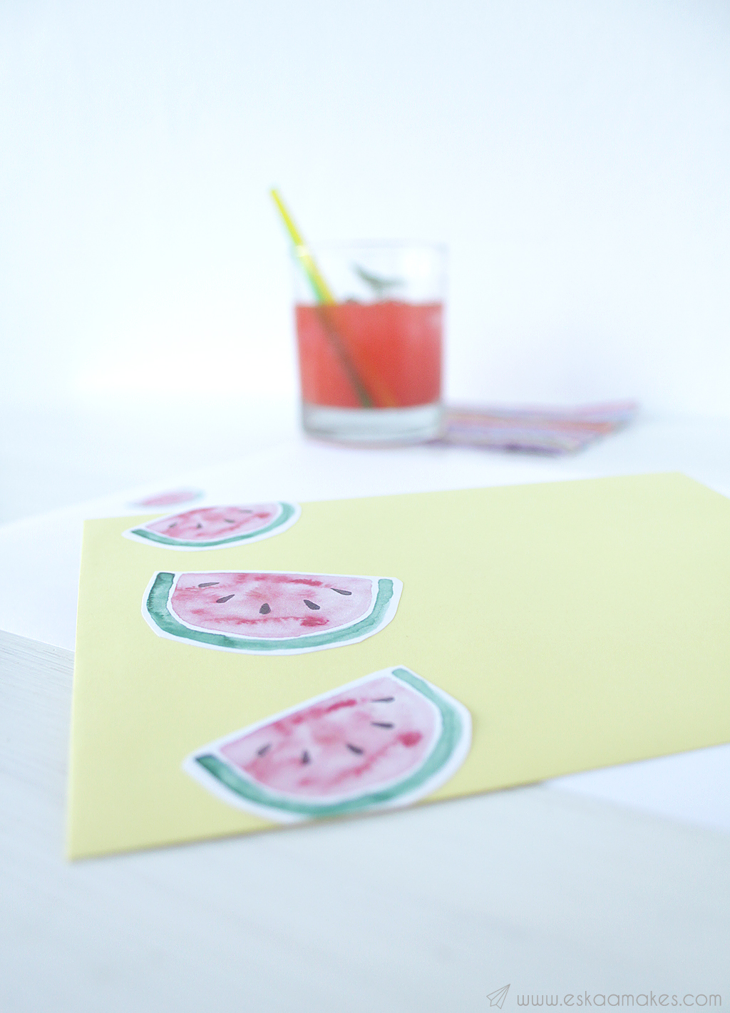 printables watermelon snailmail 4