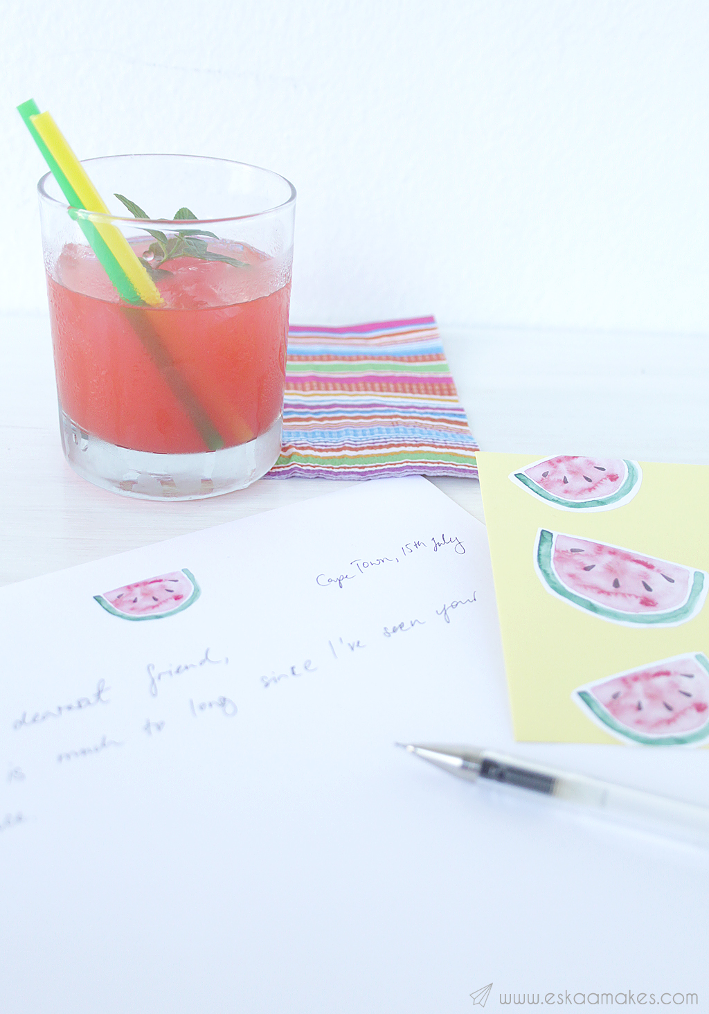 printables watermelon snailmail 8