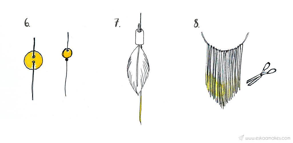 diy dream catcher with branch step 8