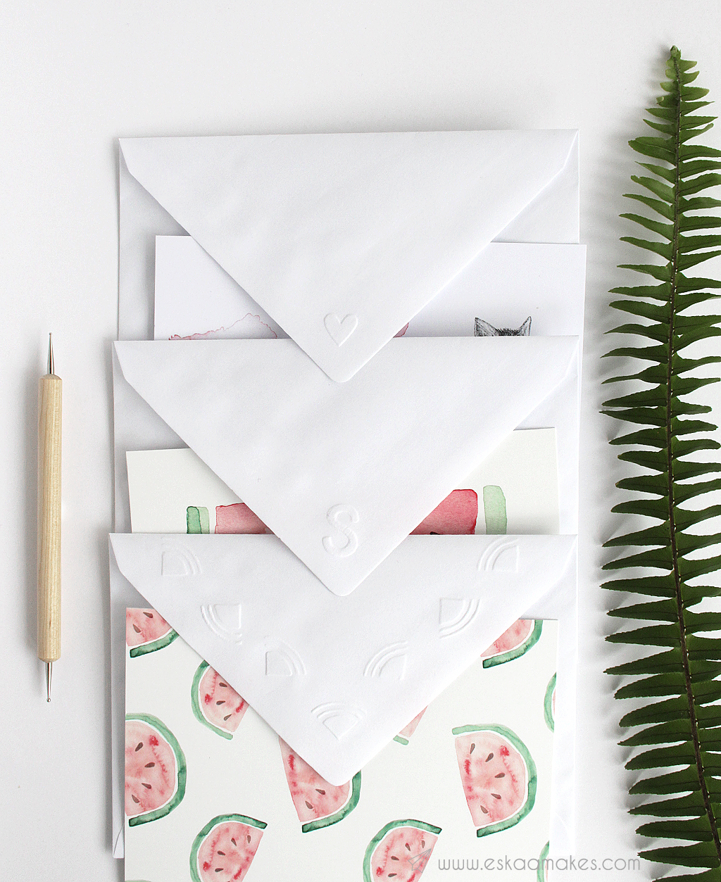 diy embossed envelope 1