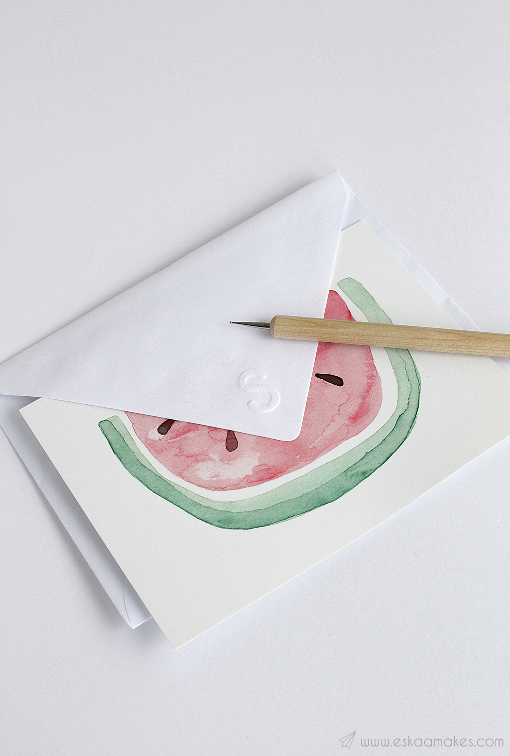diy embossed envelope 10