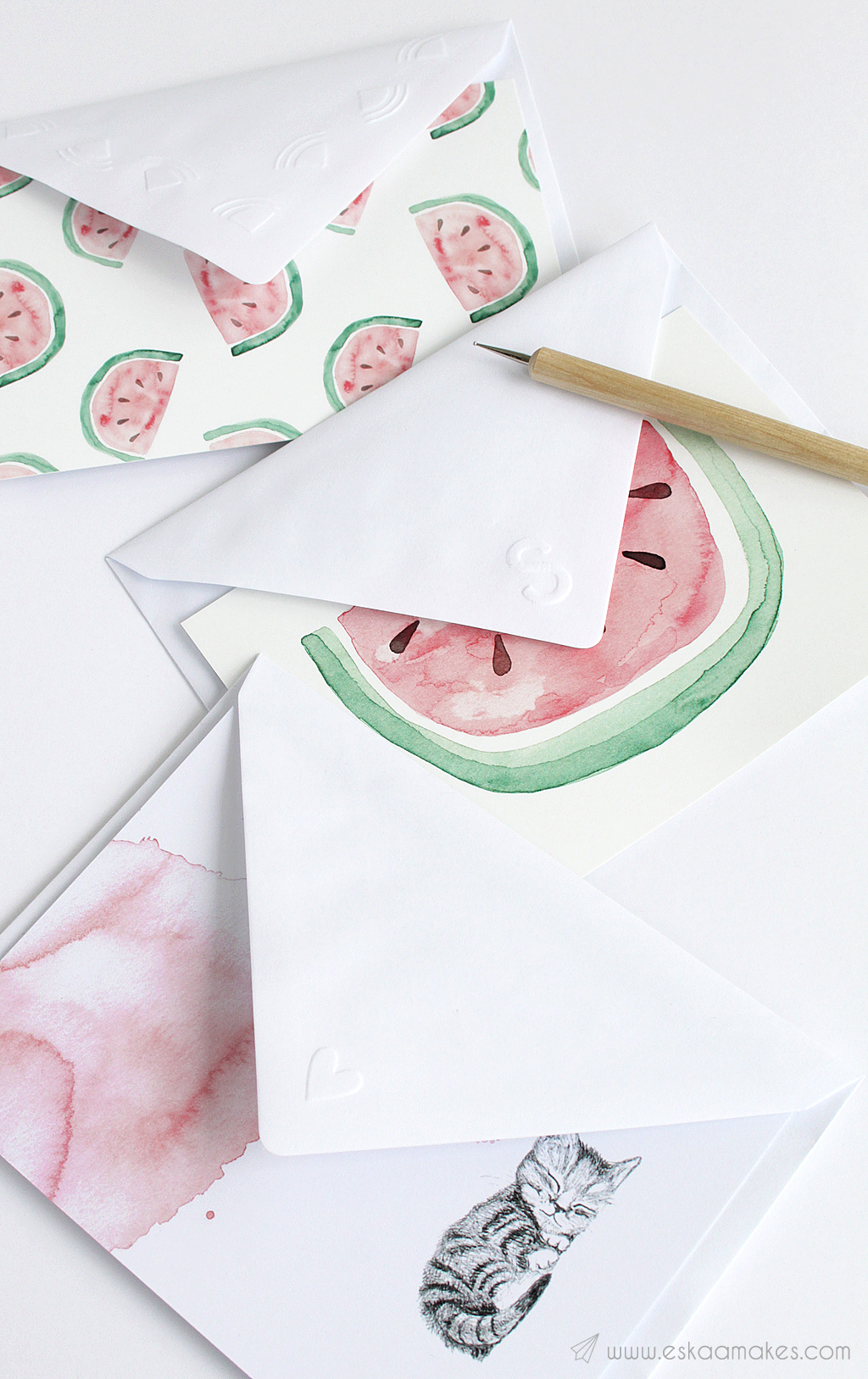 diy embossed envelope 2