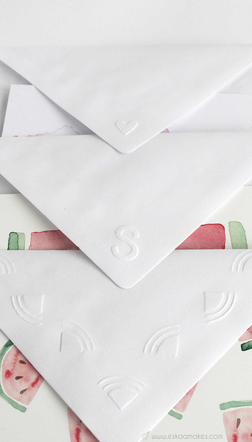 diy embossed envelope 8
