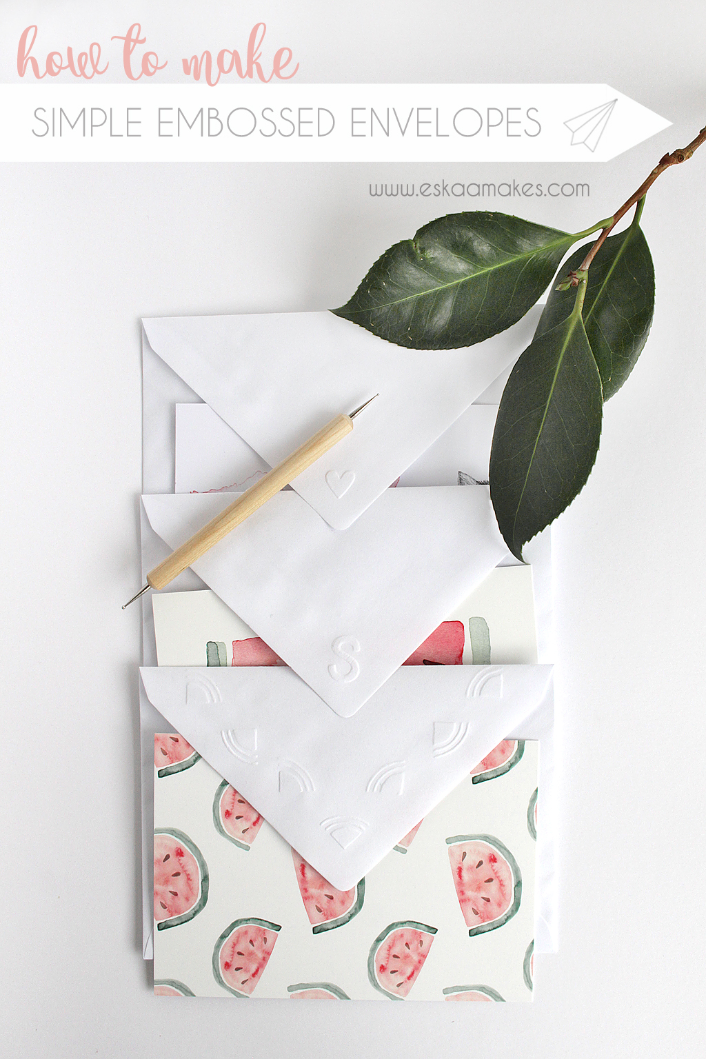 diy embossed envelope TITLE