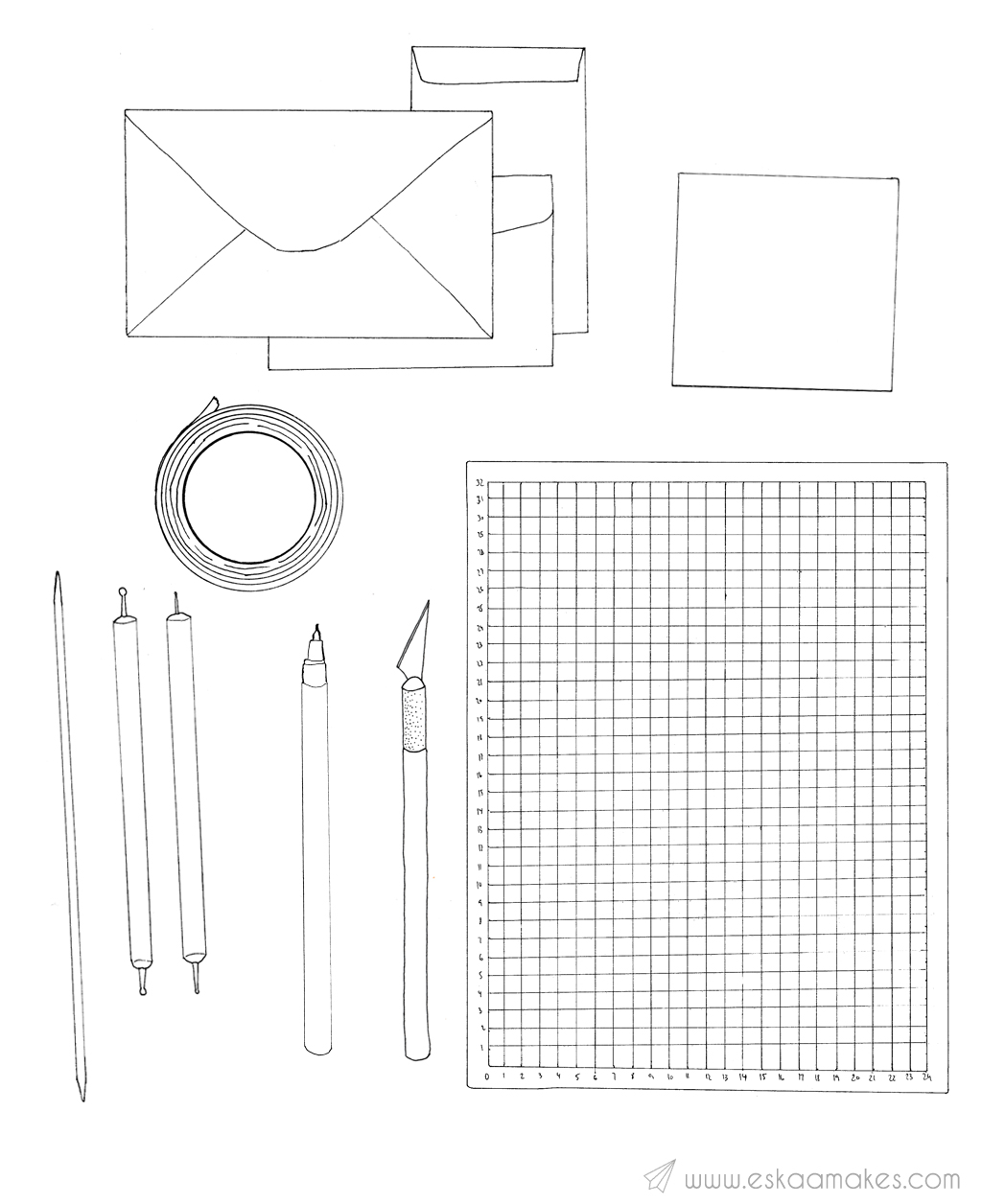 DIY emboss envelopes material