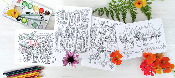 free printable colouring card