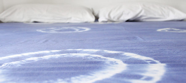 diy tie-dye bed sheet