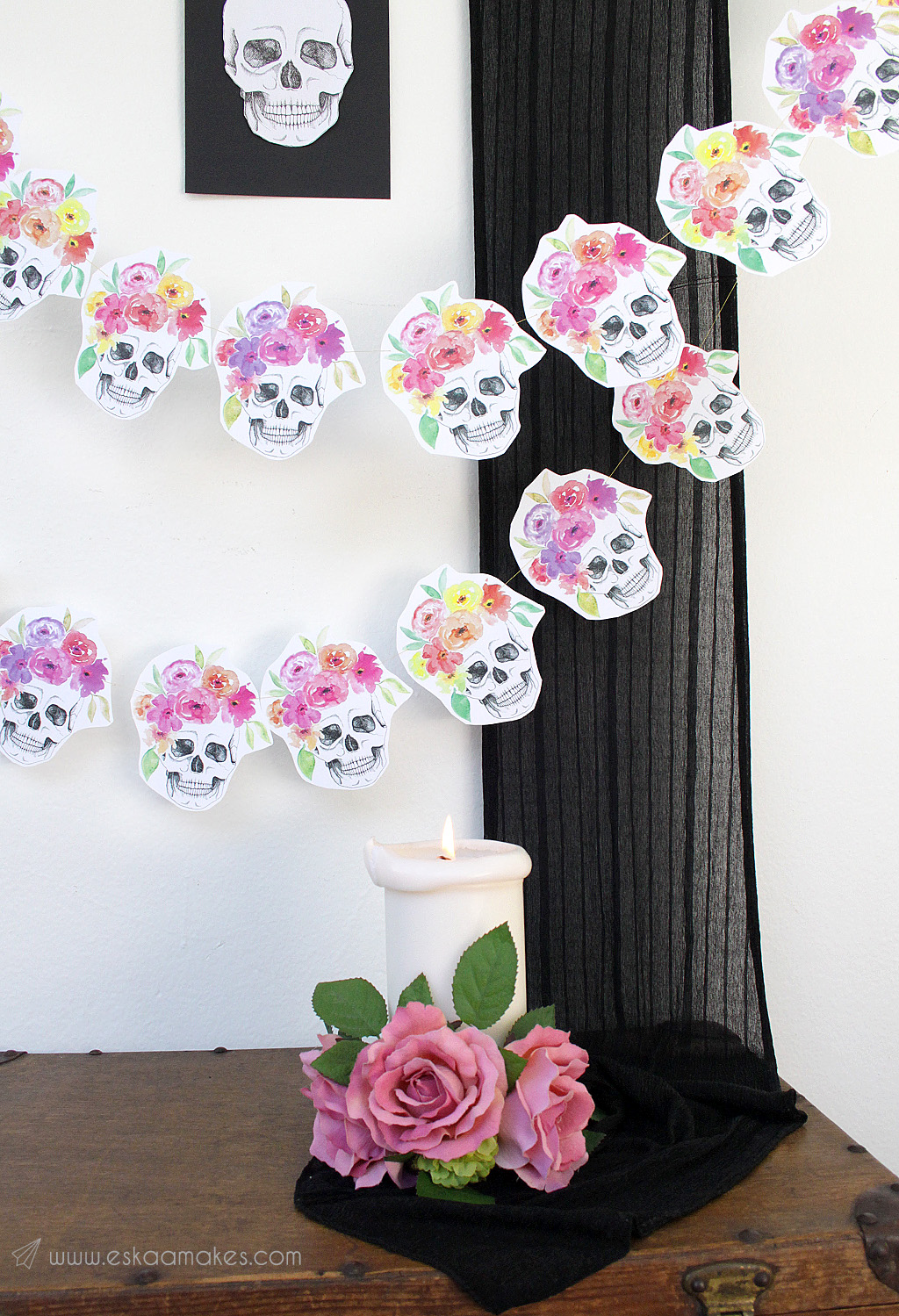 diy-flower-crown-skull-garland-1