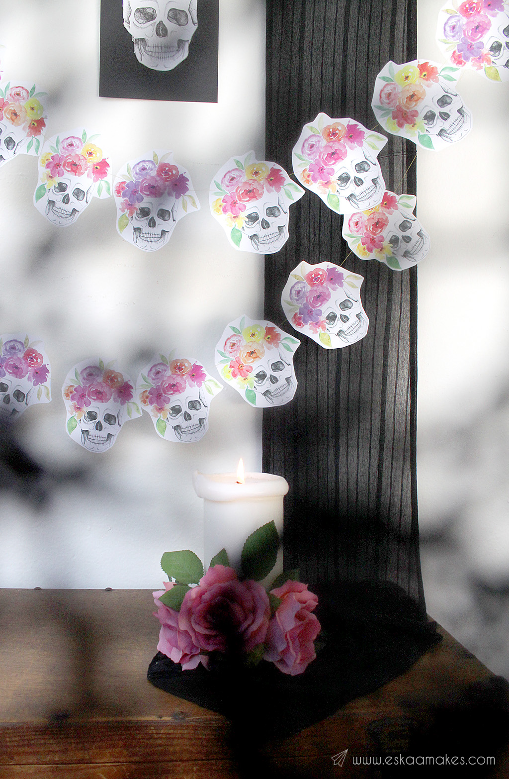 diy-flower-crown-skull-garland-2