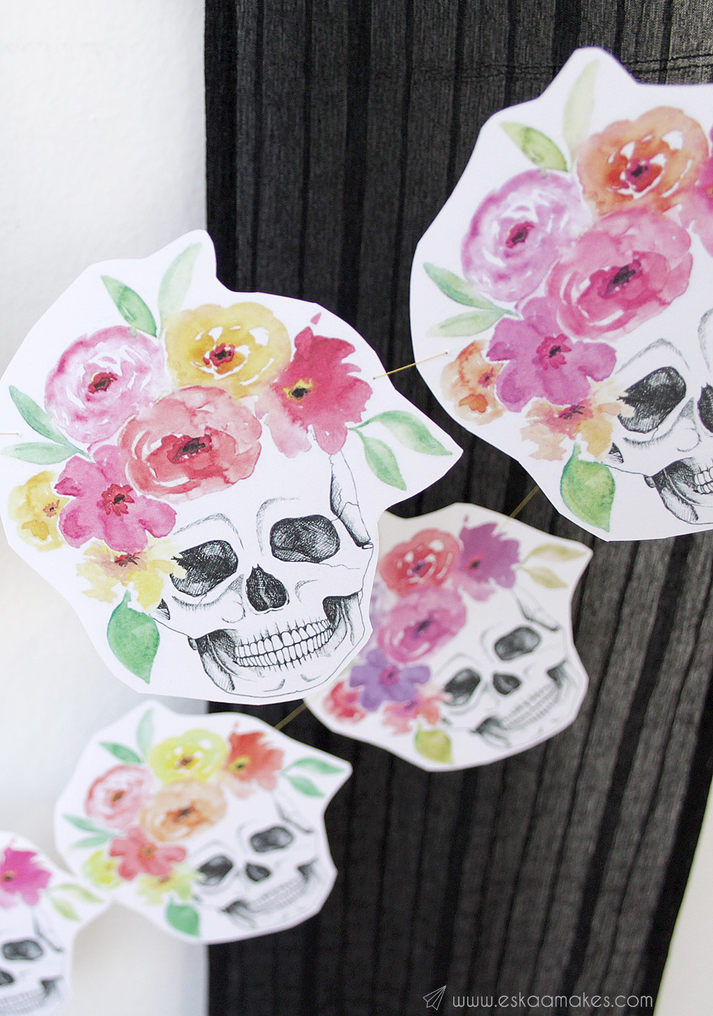 diy-flower-crown-skull-garland-8