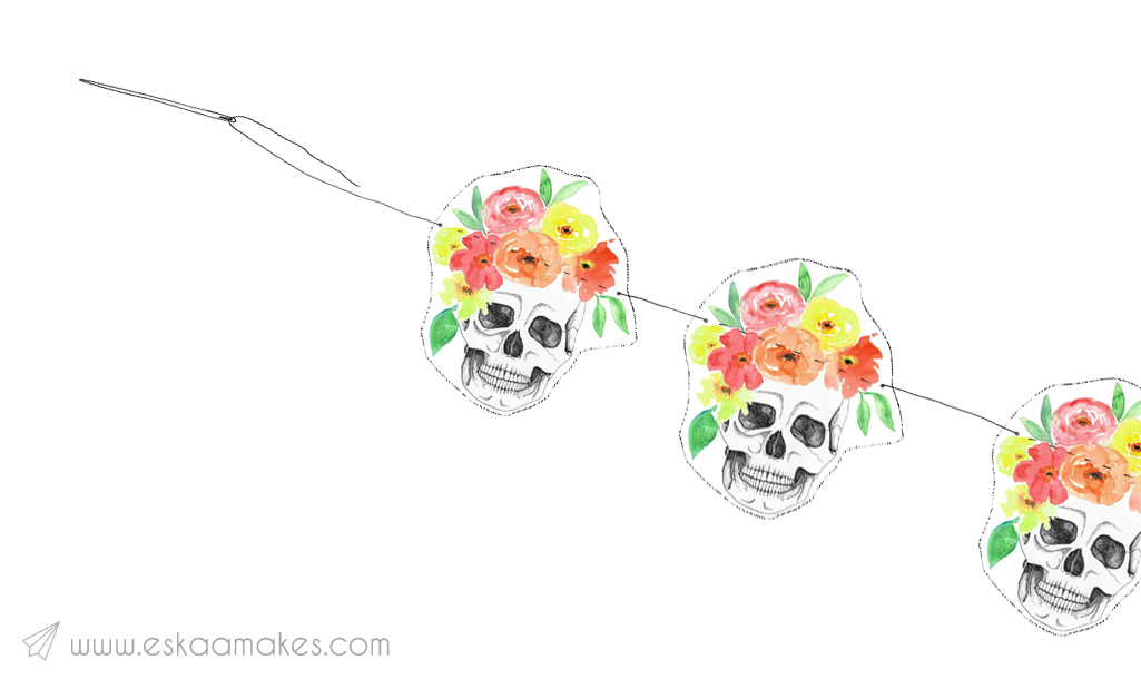 flower-crown-skull-printable-step-2