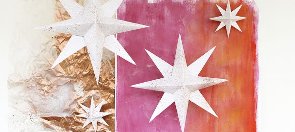 diy paper star christmas