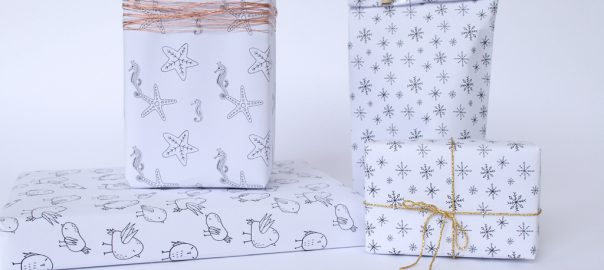 free printables hand drawn gift wrap es kaa makes