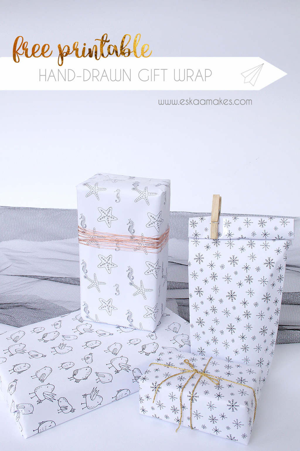 photograph relating to Free Printable Wrapping Paper referred to as Cost-free Printables: hand-drawn reward wrap » [es.kaa.] results in