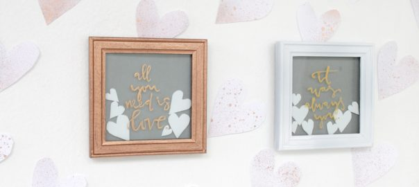 How To Make Valentine Love Message On Picture Frame Eskaa Makes