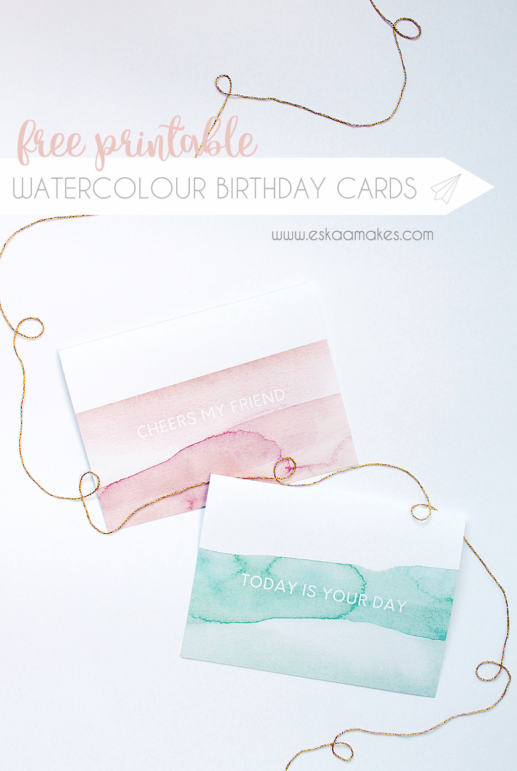 free printable watercolour birthday cards